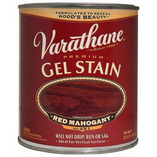Stain Red Wood Mahogany - Varathane 224459H Premium Gel Stain, Quart, Red Mahogany