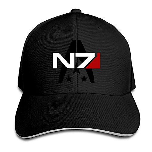 Mass Effect Alliance N7 Special Forces Flexible Baseball Cap Black f21d8c3afb94