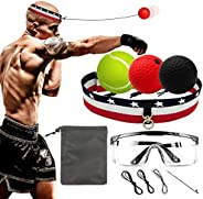Milachic Boxing Reflex Ball-Upgraded Boxing Equipment 3 Difficulty Levels Boxing Balls with Headband and Goggl
