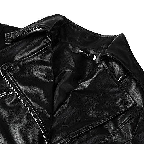 Soprabito Modo Dell'annata Luoluoluo Cappotti Outwear Delle Cerniera Di In Pelle Biker Donne Di Signore Del Moto Rivestimento Delle Donne HZ8YHwq