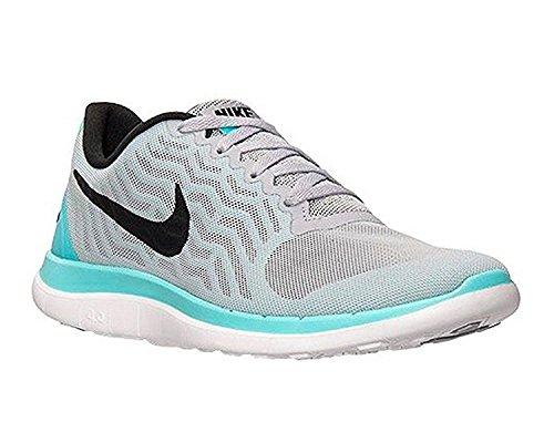 Vrouwen Nike Free 4 718412 004 Wolf Grijs / Zwart-light Aqua (10)