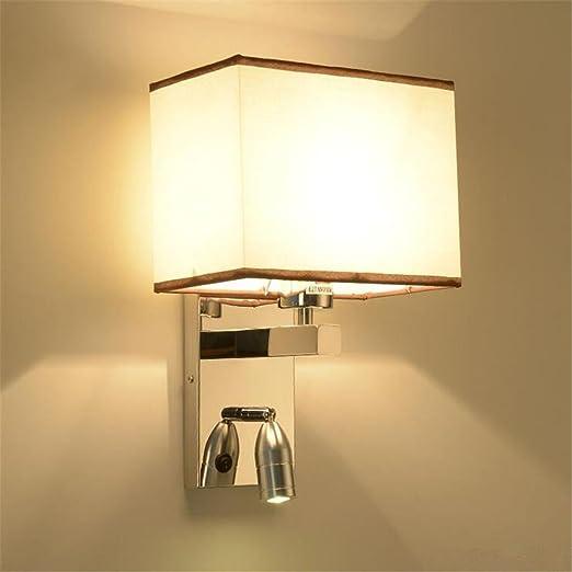 KDLD Wall Lights ® Wall Lights Modern E27 Hotel Style Bedside Fabric ...