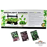 P. Allen Smith Indoor Greens Gardening Collection - Seeds and a Sunblaster Micro Grow Light Garden
