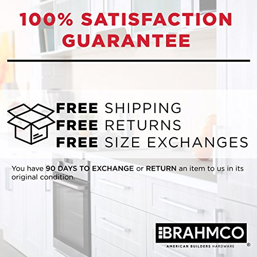 30 Pack | 5'' Stainless Steel T Bar Cabinet Pulls: 3 Inch Hole Spacing | Brahmco 180-5 | Modern Euro Style Brushed Satin Nickel Finish Kitchen Cabinet Handles Hardware/Drawer by Brahmco (Image #2)