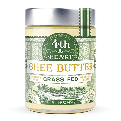 Original Grass-Fed Ghee by 4th & Heart, 16 Ounce, Pasture Raised, Non-GMO, Lactose Free, Certified Paleo, Keto-Friendly by 4th & Heart