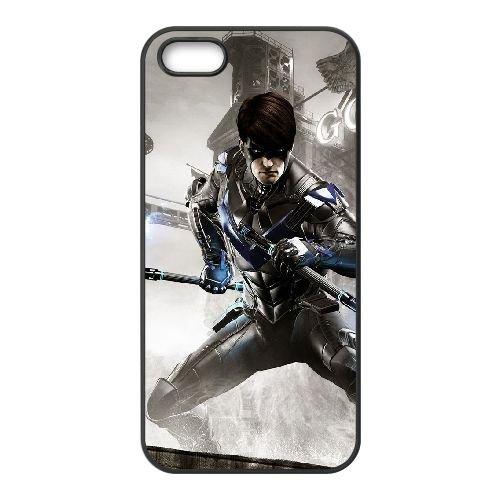 O8S56 Batman Arkham chevalier T6H8YT coque iPhone 4 4s cellulaire cas de téléphone couvercle coque noire KR2JGF4OD