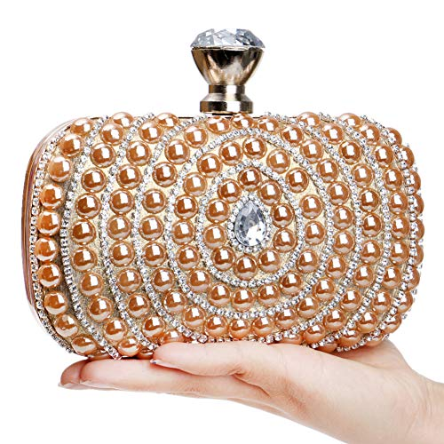 Bags Dress Wedding Gold Key Bead Evening Purse Chain Handbags Clutches Party H1YYw5Uq