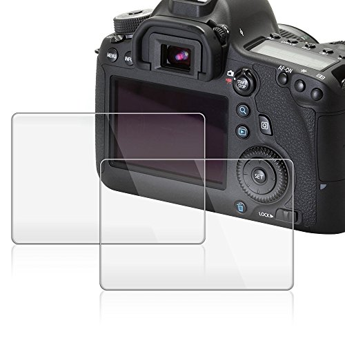 Screen Protector for Canon EOS 6D, AFUNTA 2 Pack Camera Anti-scratch Tempered Glass for DSLR Camera