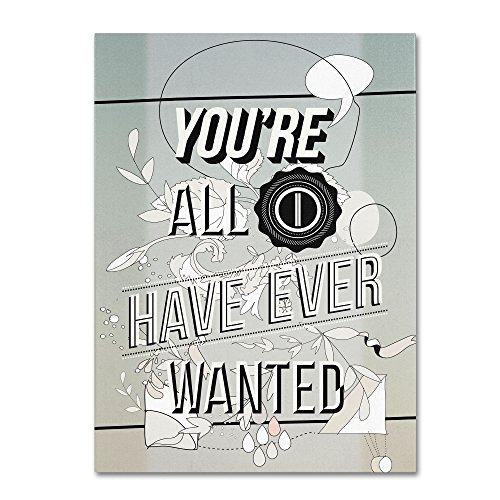 picture of Trademark Fine Art All I Want Artwork by Kavan & Co, 35 by 47-Inch