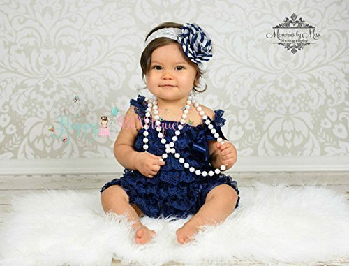 Girl's Navy Blue Lace Dress set, Girl Navy Lace Dress by Happy BOWtique