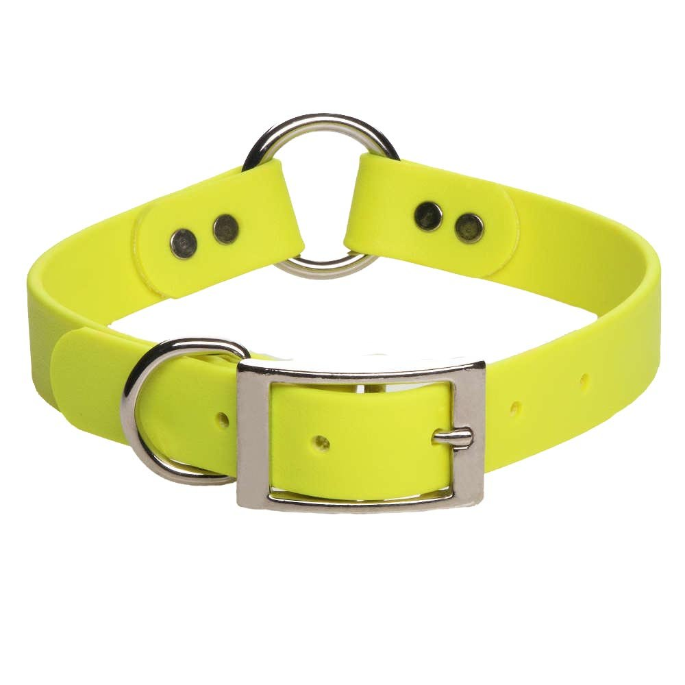 Mendota Pet DuraSoft Hunt Dog Collar, 1 by 18-Inch, Yellow