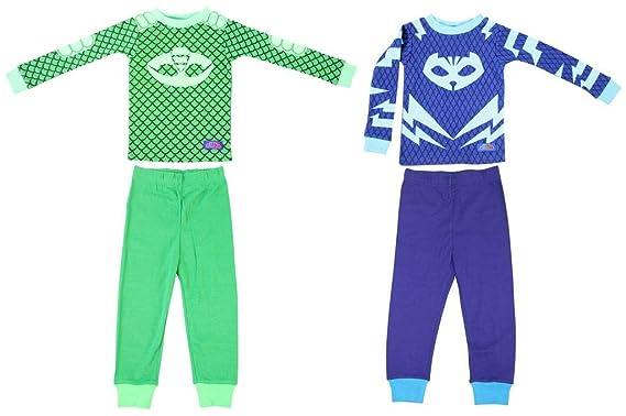 21965c7a4426 Amazon.com  Disney PJ Masks Toddler Gekko Catboy 2 Cotton Sleepwear ...