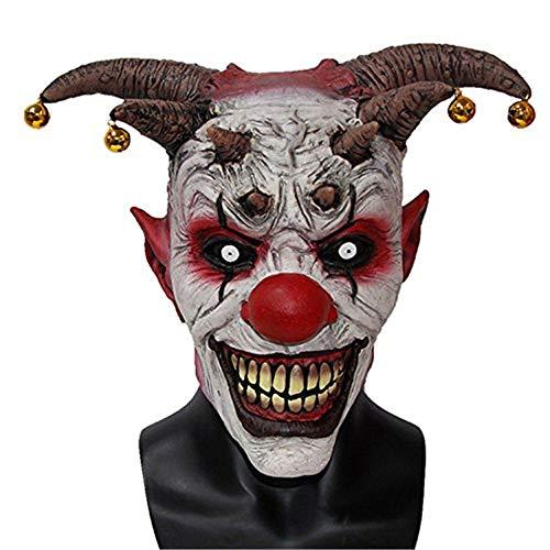 Masks of The Clown Jingle Jangle.Jingle Jangle Psycho Evil Jester Clown Latex Adult Halloween Costume Mask.]()