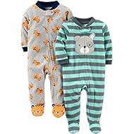 Boys' 2-Pack Fleece Footed Sleep and Play
