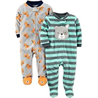 Boys Baby 2-Pack Fleece Footed Sleep and Play