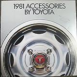 1981 Toyota Accessory Brochure Celica Corolla Corona Land Cruiser Pickup