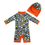 upandfast Baby/Toddler One Piece Zip Sunsuits with