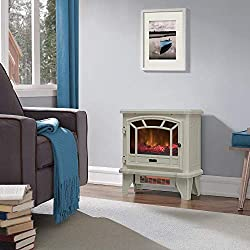 Duraflame Electric Fireplace Stove 1500 Watt Infrared Heater with Flickering Flame Effects from Duraflame
