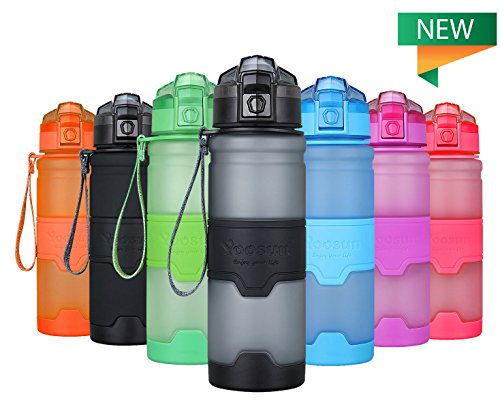 YOOSUN Sport Water Bottle BPA Free Leak Proof Travel Water Bottle Eco Plastic Drinks Bottle Fitness Running Outdoor Camping Gym Water Bottle 1 Click Opening