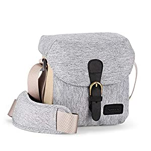 Best Epic Trends 514Mw1T8YsL._SS300_ AERFEIS Mirrorless Camera Light-Weight Shoulder Bag Water Repellent Nylon Small Compact Camera Case Compatible for Sony…