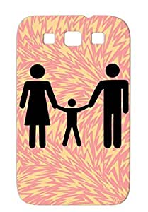 Family Family Baby Protective Hard Case For Sumsang Galaxy S3 Black Scratch-resistant
