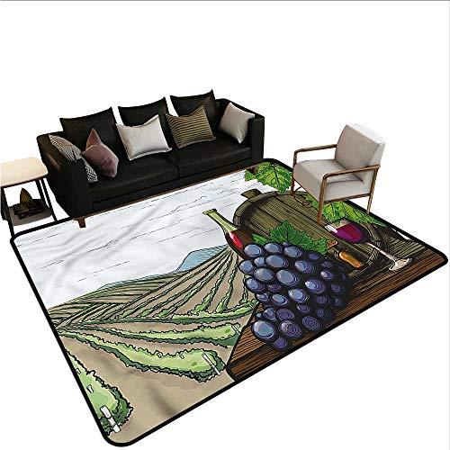 (Wine,Floor Mat Home Decoration Supplies 60