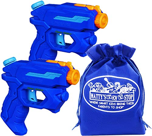 Nerf Super Soaker AlphaFire 3-Stream Water Blasters Gift Set Battle Bundle with Bonus Matty's Toy Stop Storage Bag - 2 Pack
