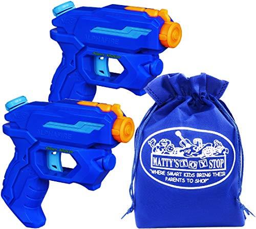 - Nerf Super Soaker AlphaFire 3-Stream Water Blasters Gift Set Battle Bundle with Bonus Matty's Toy Stop Storage Bag - 2 Pack