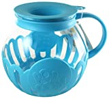 Ecolution Micro-Pop Microwave Popcorn Popper 3QT - Temperature Safe Glass w/Multi Purpose Lid, Family Size (Turquoise)