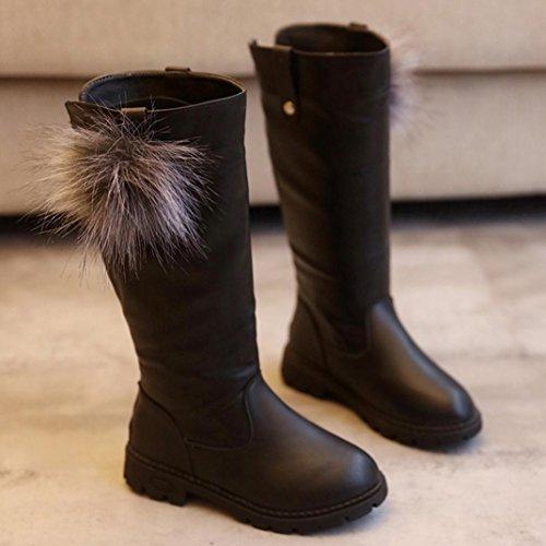 Clode® Madchen Kids Herbst Winter Warme Art und Weise Kinder Stiefel Schuhe , die Mädchen SchneeAufladungen verdicken Schwarz