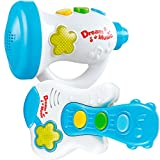 Fun Wee Electric Little Guitar And Trumpet For Your Baby Rockstar Education And Development, Toys With Music And Lights - Interactive And Educative Set Of Two Musical Instruments For Children