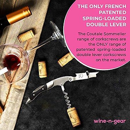 Prestige de Coutale Sommelier–el francés patentado resorte doble palanca camareros sacacorchos y abridor de botellas de vino