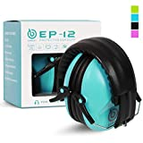 EAREST Protection Ear Muffs Noise Reduction Safety Ear Muffs Shooting Earmuff with A Useful Carring Bag + Belt NRR 20DB Professional Ear Defenders for Adults and Children - Blue