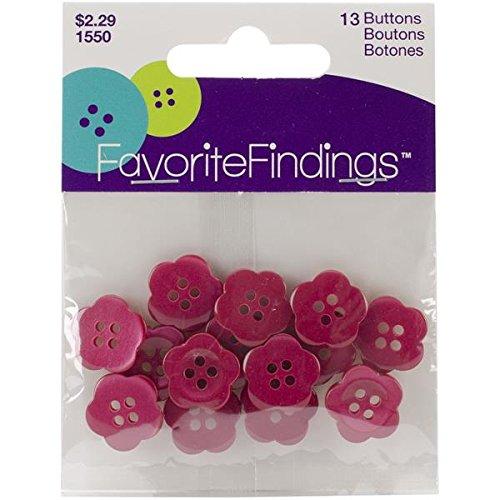 Favorite Findings Buttons (Blumenthal Lansing Favorite Findings Buttons, Blooms, Pink,)