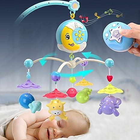 Eleganantamazing - Campanas de plástico para bebé, diseño Musical de Cochecito de bebé, con Mando a Distancia: Amazon.es: Hogar