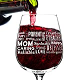 Best Mommy Gifts - Mom Wine Glass with Affectionate, Loving Words Review
