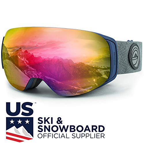 WildHorn Outfitters Roca Ski Goggles & Snowboard Goggles- Premium Snow Goggles for Men, Women and Kids. Features Quick Change Magnetic Lens System with Integrated Clip ()