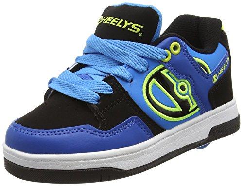 HEELYS Flow 770608 - Zapatos 1 rueda para niños Varios colores (Royal Black Lime)
