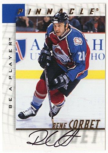 Rene Corbet (Hockey Card) 1997-98 Be A Player Pinnacle Autograph # 205 NM/MT