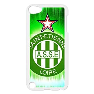 Saint-Etienne-Logo,ASSE,The Greens,Association Sportive de Saint-¨¦tienne Loire Personalized IPod Touch 5/5G/5th Generation Hard Plastic Shell Case Cover White&Black(HD image)