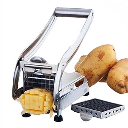 Acero inoxidable cortador de patatas, verduras, cortador de verduras cortador perfecto para hacer chips