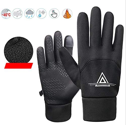 WINTER GLOVES TOUCH SCREEN CYCLING RUNNING THERMAL SPORTS ANTI SLIP GREY SIZE M