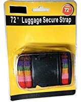 Luggage Strap (72 Inch) - Rainbow Color with a Quick Release Buckle