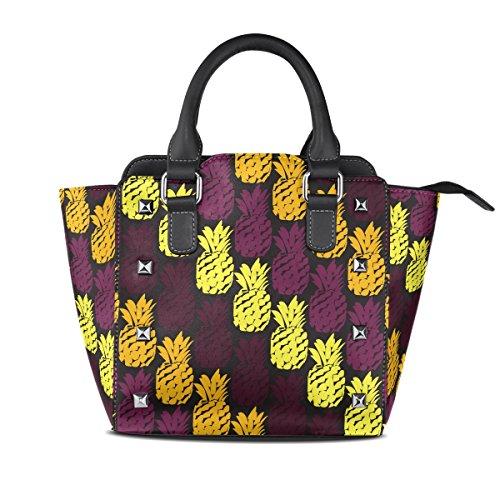 Borsa Tote Pelle Pu Top Ananas Borsello Arte In Spalla Contemporanea handle Women A Coosun Multicolore Borse Modello Medio g6vqwOB