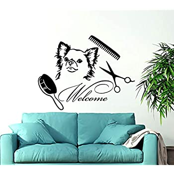 Amazon.com: N.SunForest Grooming Salon calcomanías de pared ...
