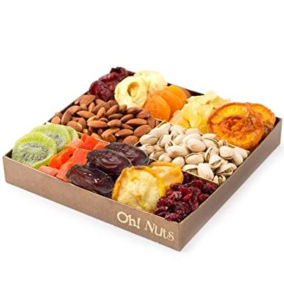 Nut and Dried Fruit Gift Tray, Healthy Snack Gift Box, Great Gift for the Health Conscious Individual - Oh! Nuts by Fruit Gifts by Oh! Nuts®