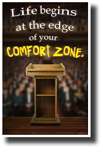 - Life Begins at the Edge of Your Comfort Zone - NEW Motivational Classroom Poster