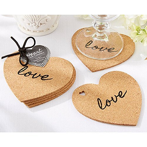 Heart Cork Coasters (pack of 10 sets) by Kate Aspen