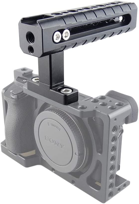 MAGICRIG Quick Release Top Handle with Cold Shoe for DSLR Camera Cage Camcorder Cage Rig