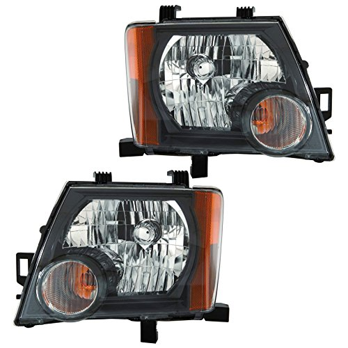 (Headlights Headlamps Left & Right Pair Set for 09-13 Nissan Xterra X & S Models)